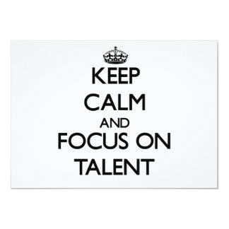 Keep Calm and focus on Talent Card