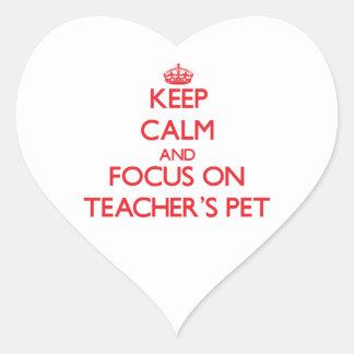 Keep Calm and focus on Teacher'S Pet Stickers