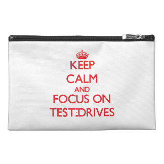 Keep Calm and focus on Test-Drives Travel Accessory Bags