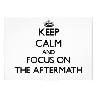 Keep Calm And Focus On The Aftermath Custom Invitations
