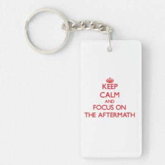 Keep calm and focus on THE AFTERMATH Double-Sided Rectangular Acrylic Keychain