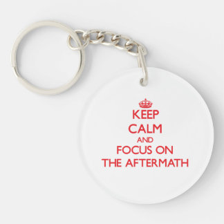 Keep calm and focus on THE AFTERMATH Single-Sided Round Acrylic Keychain