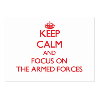 Keep calm and focus on THE ARMED FORCES Business Card Template