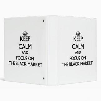 Keep Calm and focus on The Black Market Vinyl Binders