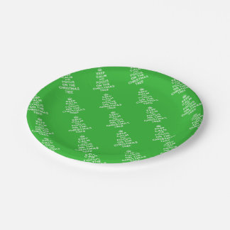 Keep calm and focus on the Christmas Tree funny 7 Inch Paper Plate