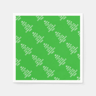 Keep calm and focus on the Christmas Tree funny Disposable Napkins