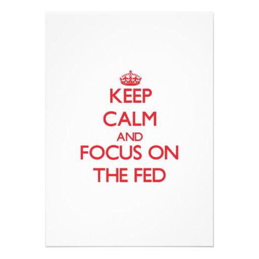 Keep Calm and focus on The Fed Custom Invites