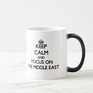 Keep Calm and focus on The Middle East Mug