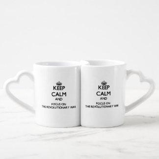 Keep Calm and focus on The Revolutionary War Coffee Mug Set