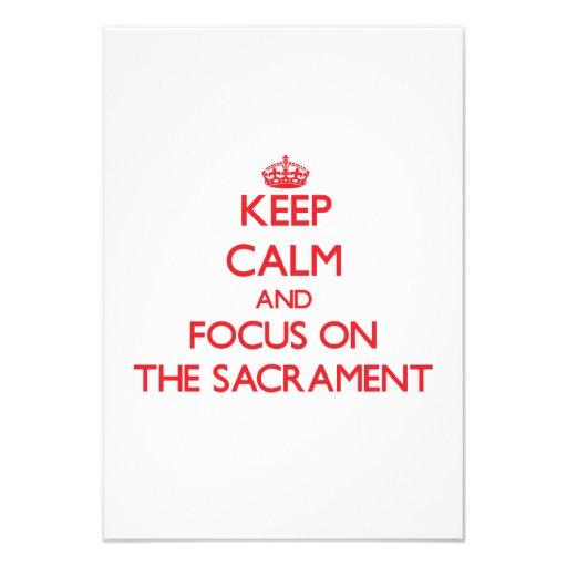 Keep Calm and focus on The Sacrament Custom Invite