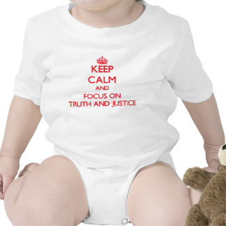 Keep Calm and focus on Truth And Justice Rompers