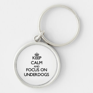 Keep Calm and focus on Underdogs Keychain