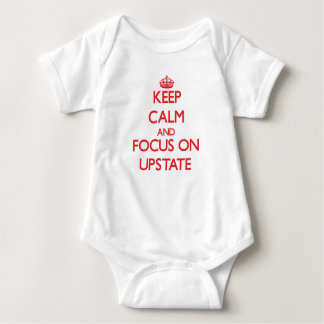 Keep Calm and focus on Upstate Baby Bodysuit