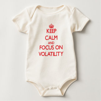 Keep Calm and focus on Volatility Baby Bodysuit