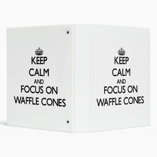 Keep Calm and focus on Waffle Cones Vinyl Binders