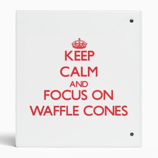 Keep Calm and focus on Waffle Cones Vinyl Binder