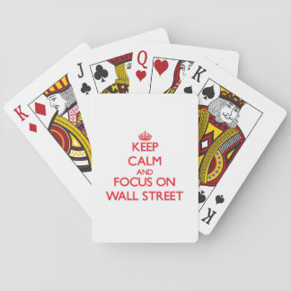 Keep Calm and focus on Wall Street Poker Deck
