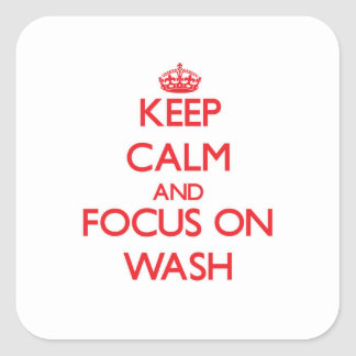 Keep Calm and focus on Wash Sticker