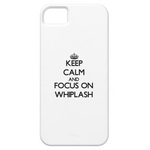 Keep Calm and focus on Whiplash iPhone 5 Case