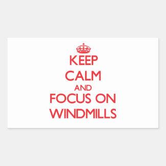 Keep Calm and focus on Windmills Sticker