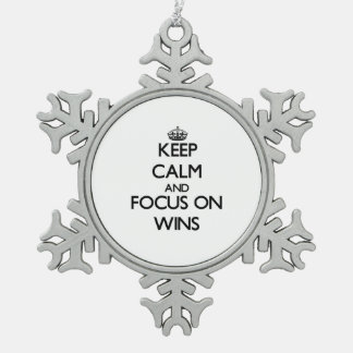 Keep Calm and focus on Wins Ornaments