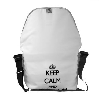 Keep Calm and focus on Workouts Messenger Bag