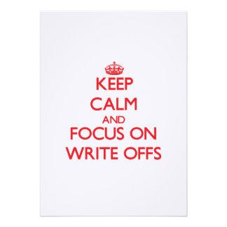 Keep Calm and focus on Write-Offs Custom Invites