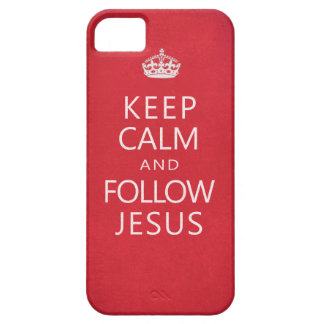 Keep Calm and Follow Jesus Spiritual iPhone 5 Covers