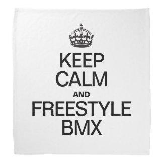 KEEP CALM AND FREESTYLE BMX BANDANA