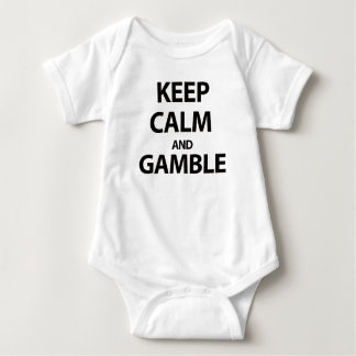 Keep Calm and Gamble Baby Bodysuit