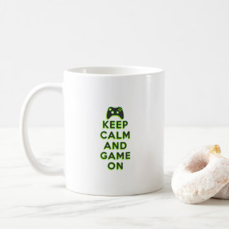 Keep Calm And Game On Coffee Mug