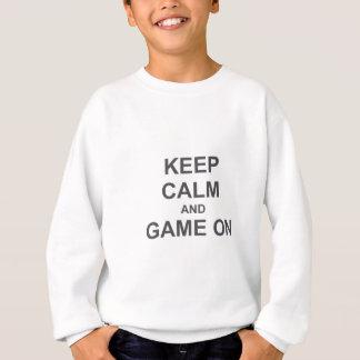 Keep Calm and Game On gray blue black Sweatshirt