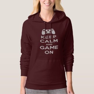 Keep calm and game on hoodies