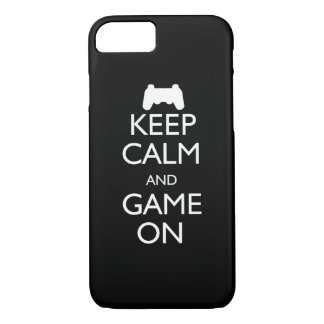 Keep Calm and Game On iPhone 7 Case