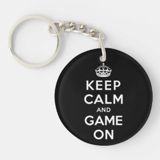 Keep Calm and Game On Keychain