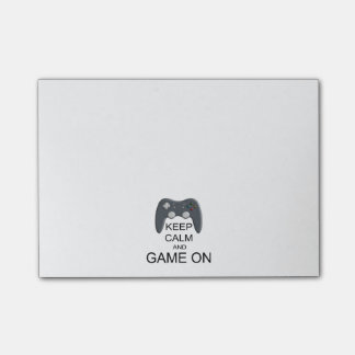 Keep Calm And Game ON Post-it Notes