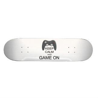 Keep Calm And Game ON Skate Board