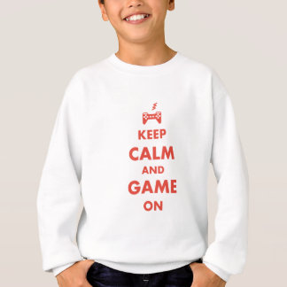 Keep Calm and Game On Sweatshirt