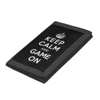 Keep Calm and Game On Tri-fold Wallet