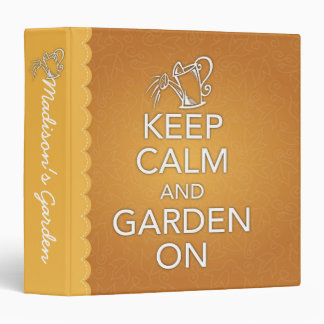 Keep Calm and Garden On Binder