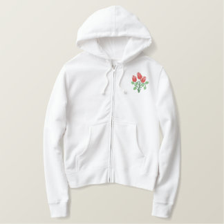 Keep Calm and Garden On Embroidered Hoodie