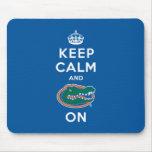 Keep Calm and Gator On - Blue Mousepad