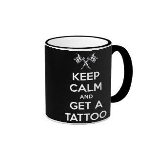 Keep calm and get a tattoo ringer mug