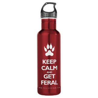Keep Calm And Get Feral 710 Ml Water Bottle