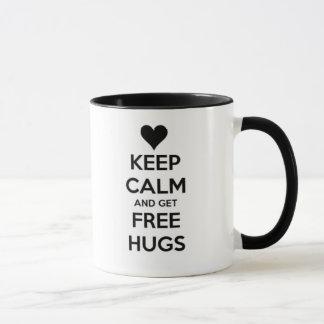 Keep calm and get free HUGS! Mug