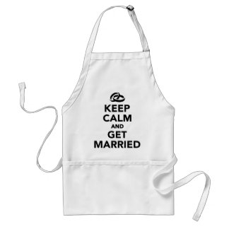 Keep calm and get Married Aprons