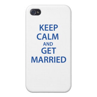 Keep Calm and Get Married! Case For iPhone 4