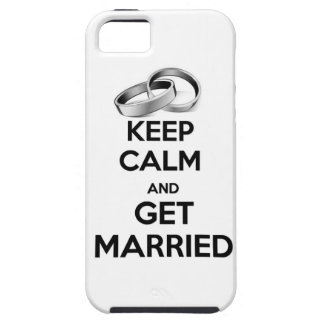 Keep Calm and Get Married iPhone 5 Cover
