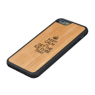 KEEP CALM AND GET THE ICE CUBE TRAY CARVED® CHERRY iPhone 6 BUMPER CASE