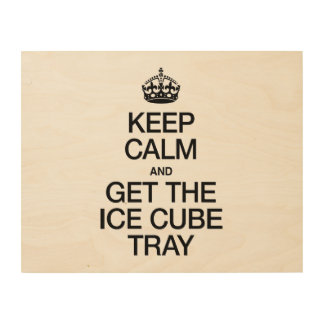 KEEP CALM AND GET THE ICE CUBE TRAY WOOD CANVASES